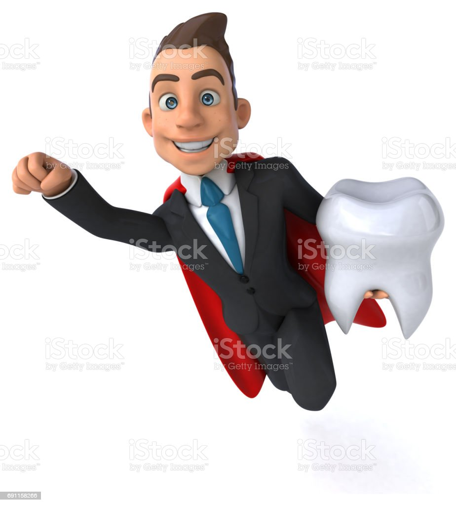 Super businessman stock photo