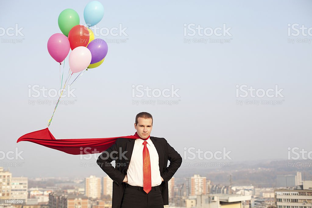 Super businessman ready to help royalty-free stock photo