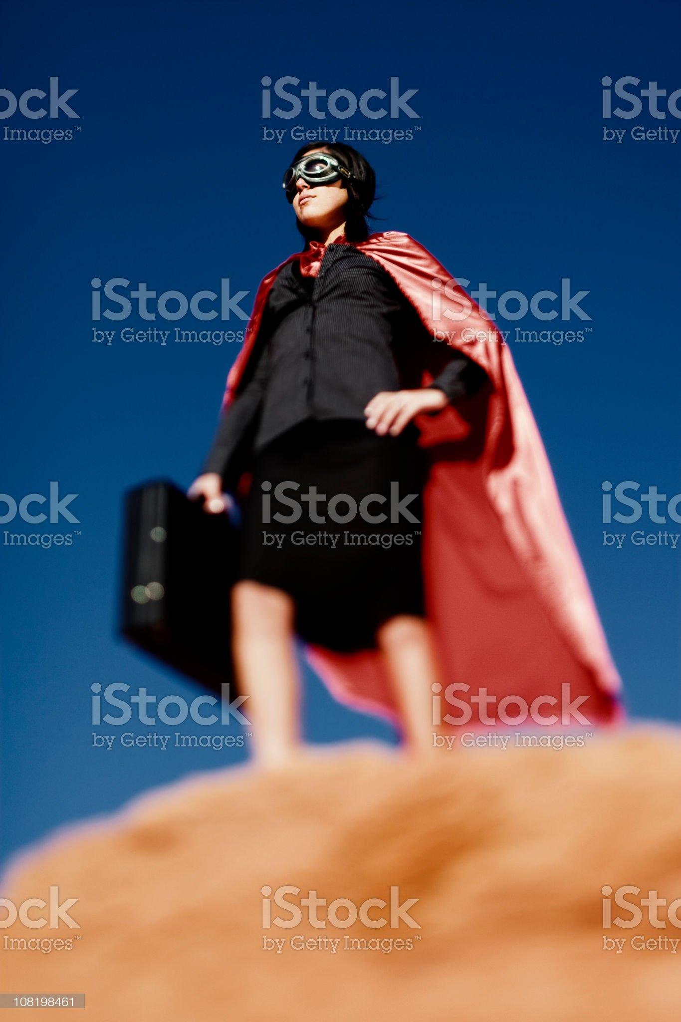 Super Businesswoman royalty-free stock photo