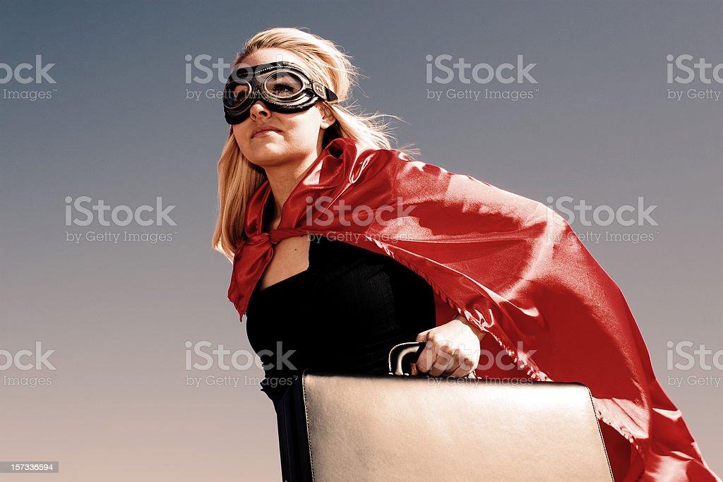 Super Businesswoman stock photo