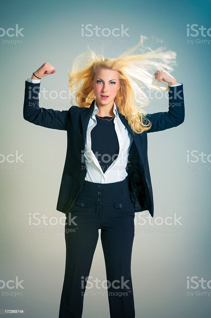 Super Businesswoman royalty-free stock photo