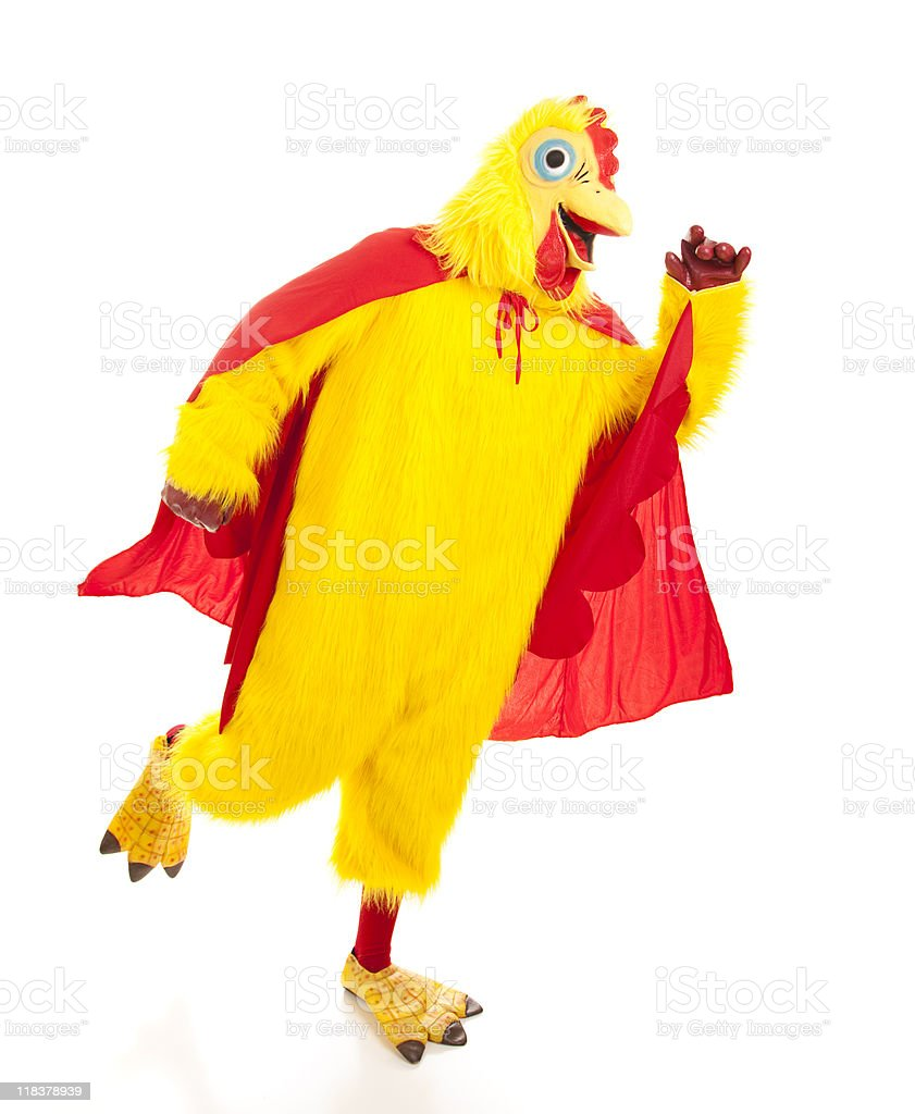 Super Chicken Takes Off stock photo