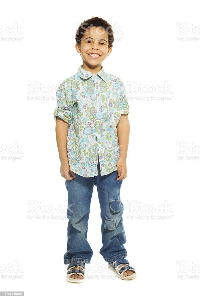 Super cute happy 5 years old boy stock photo