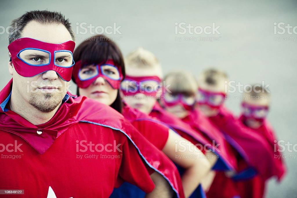 Super Dad royalty-free stock photo