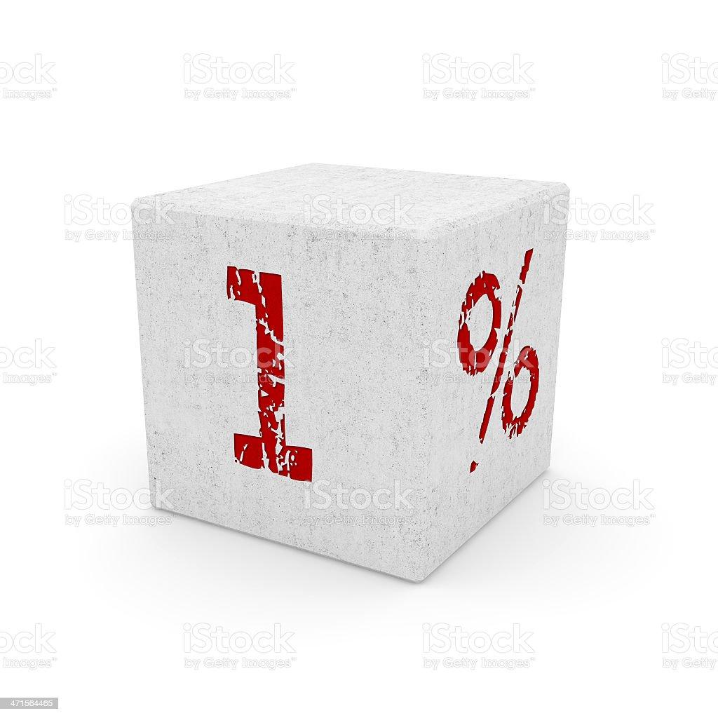 1% super discount stock photo