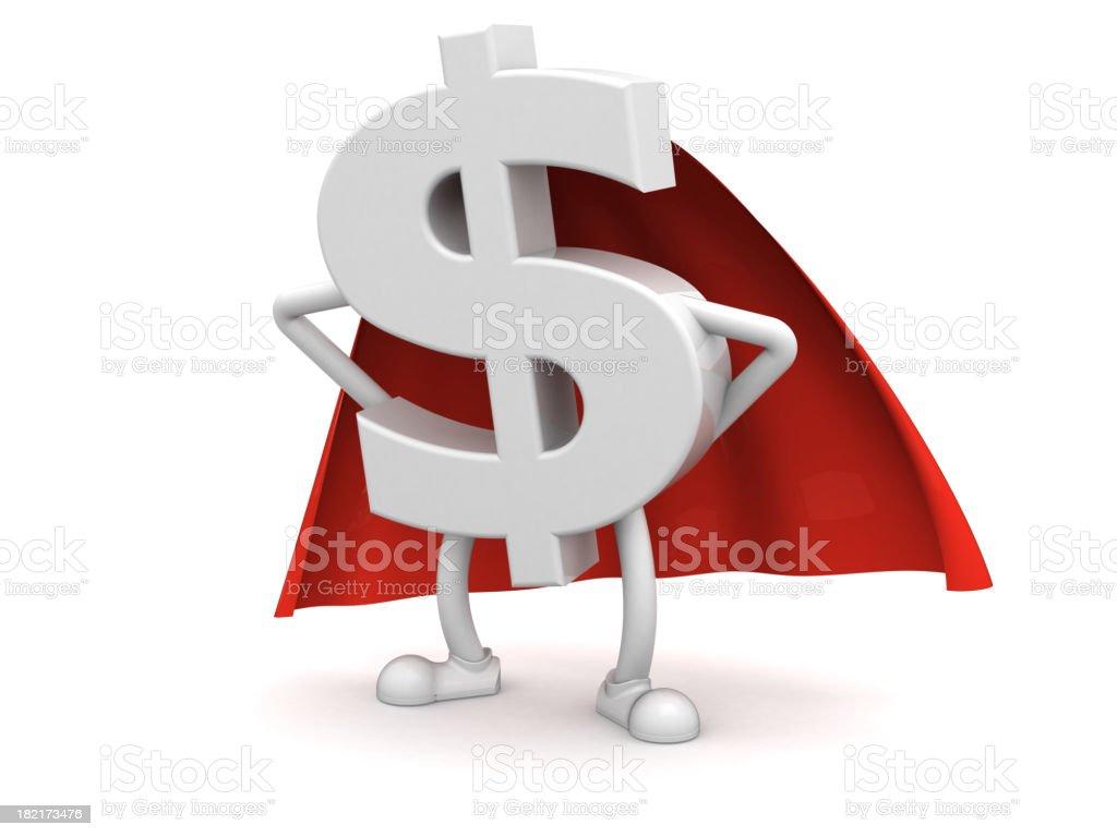 Super dollar royalty-free stock photo