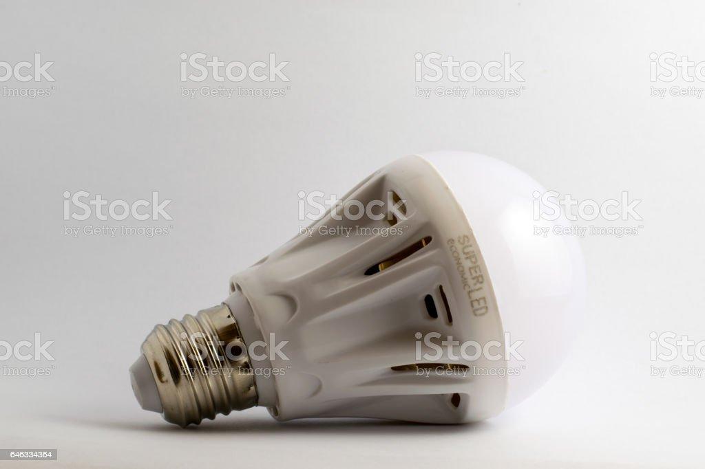super economic LED lightbulb stock photo
