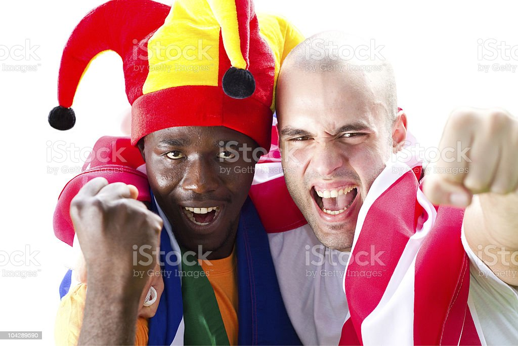 super fans of sports royalty-free stock photo