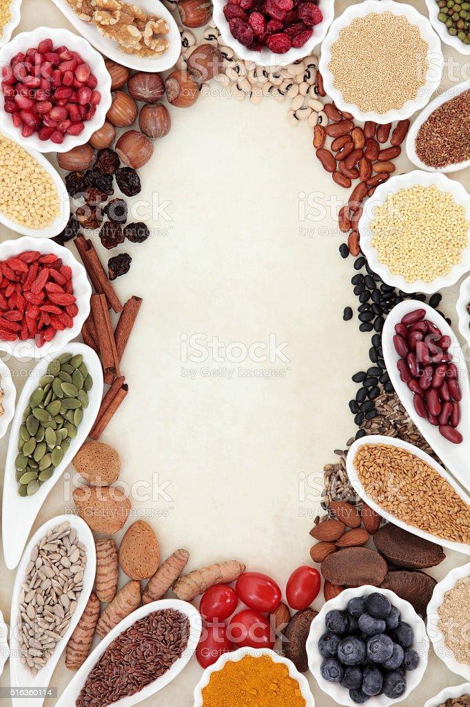Super Food Border stock photo