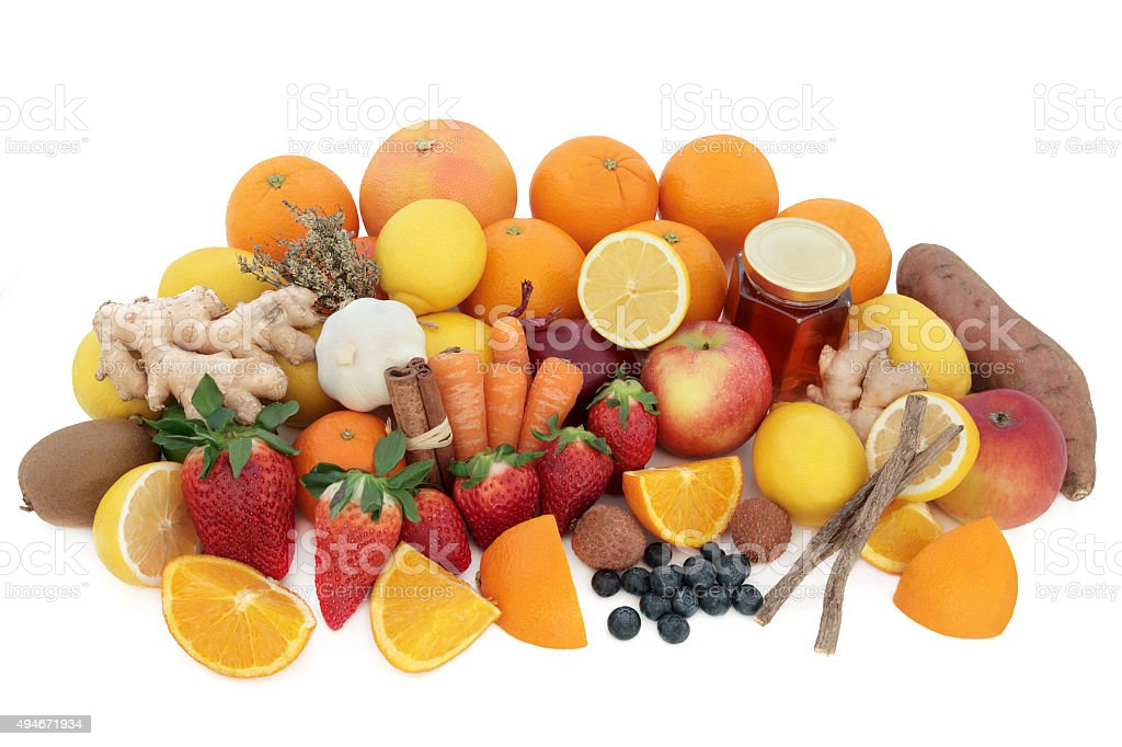 Super Food for Cold Remedy stock photo