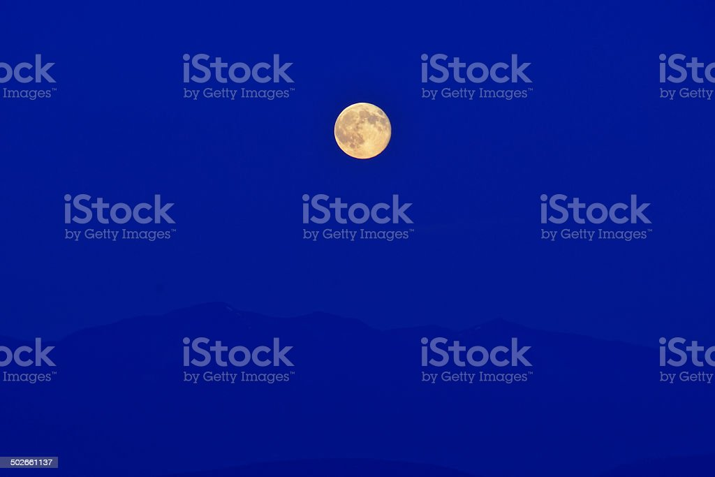 Super Full Moon stock photo