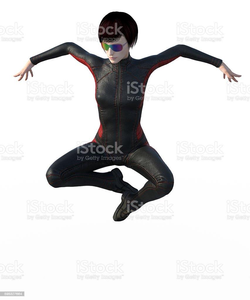 Super girl isolated stock photo