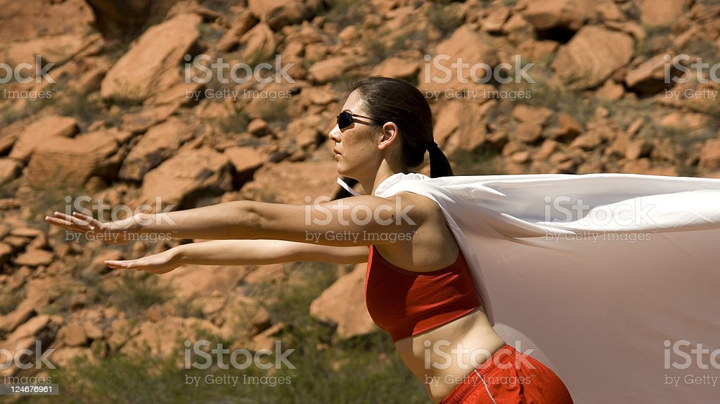 Super Girl Saves the Day! royalty-free stock photo