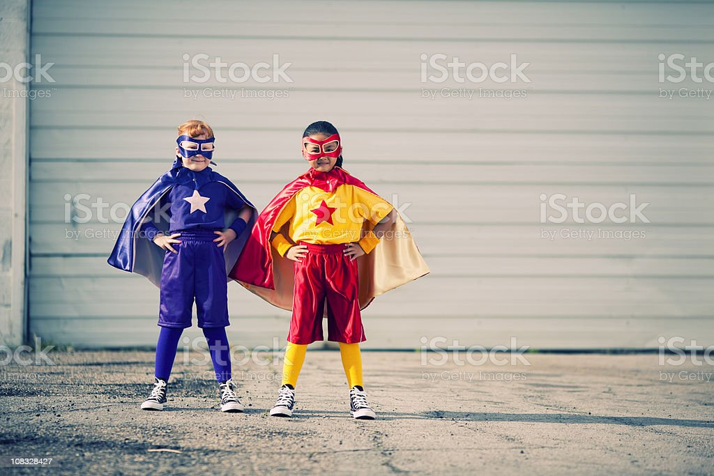 Super Girl Team royalty-free stock photo