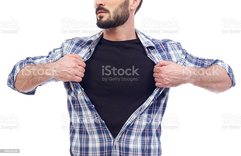 Super guy stock photo