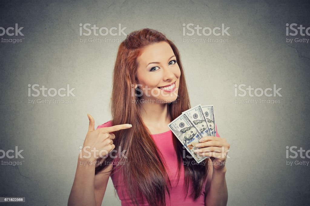 Closeup portrait super happy excited successful young business woman...
