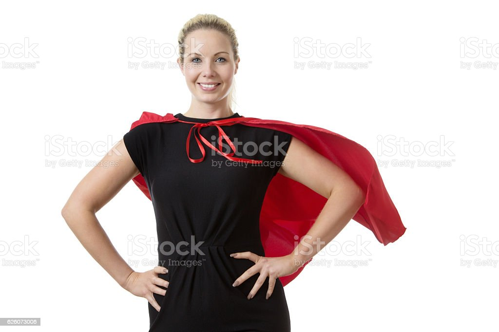 super hero at work stock photo