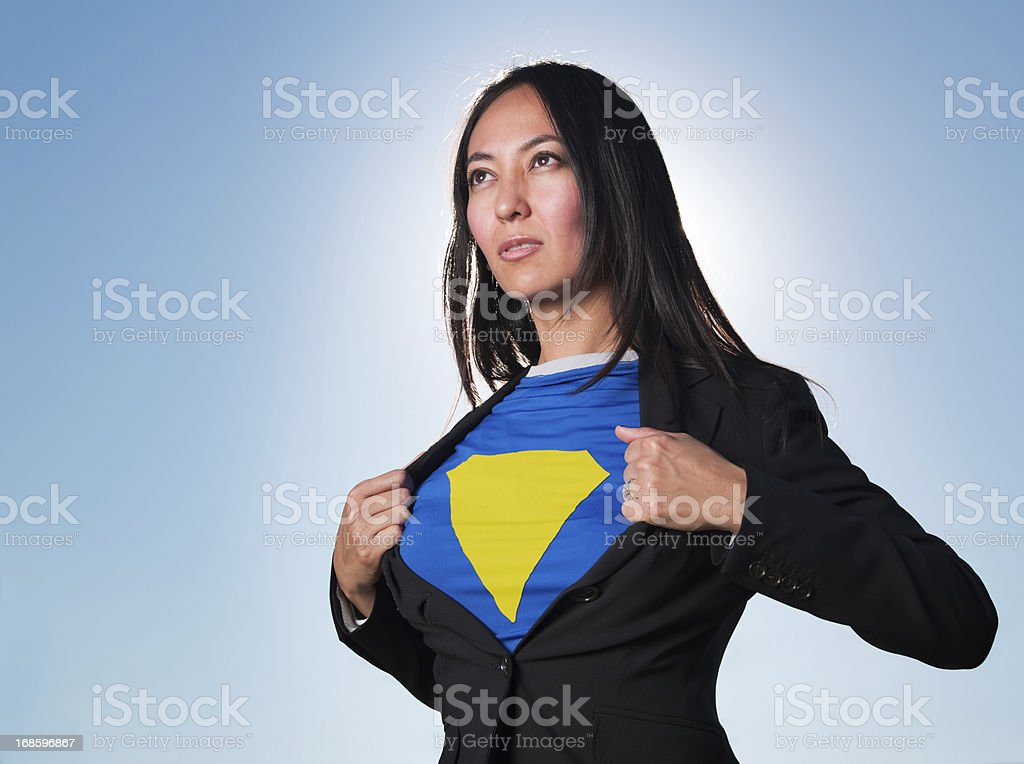 Super Hero Business Women royalty-free stock photo