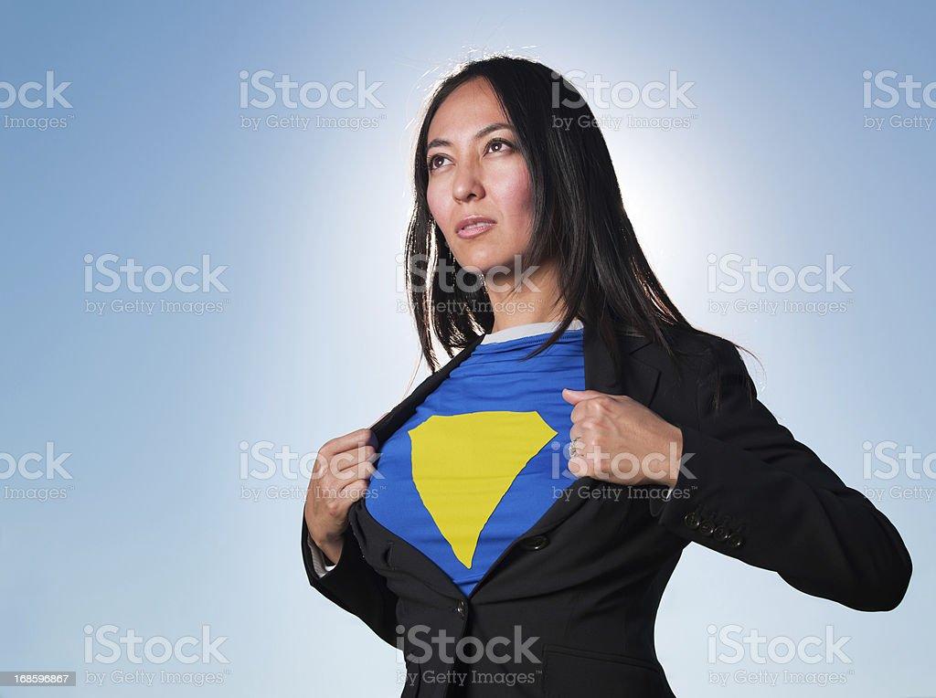 Super Hero Business Women stock photo