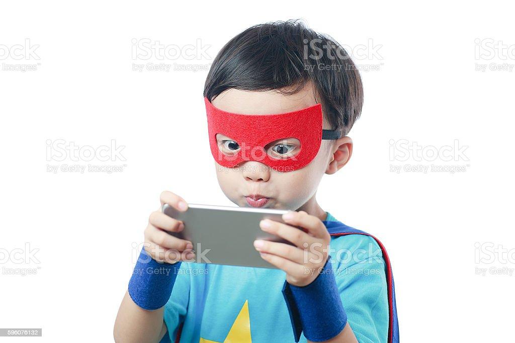 super hero call stock photo