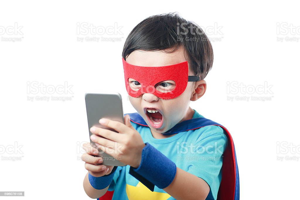 Super hero call stock photo
