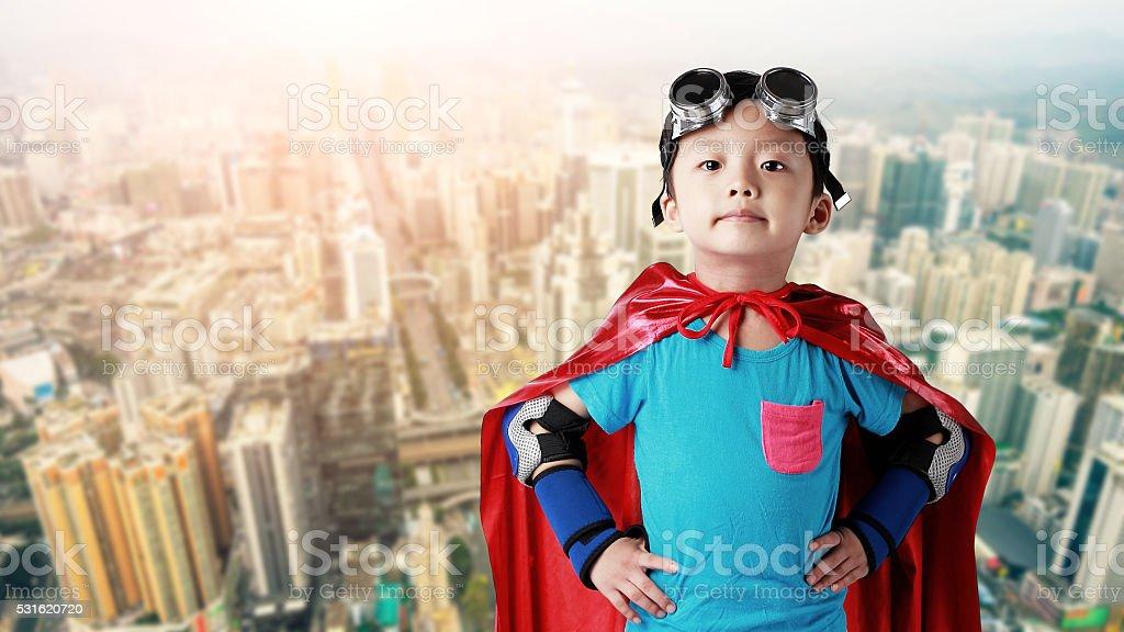 Super hero in shenzhen stock photo