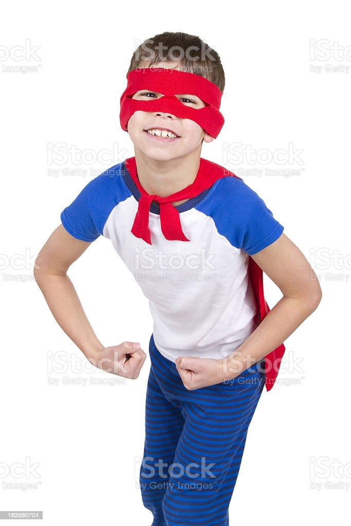 Super Hero on White royalty-free stock photo