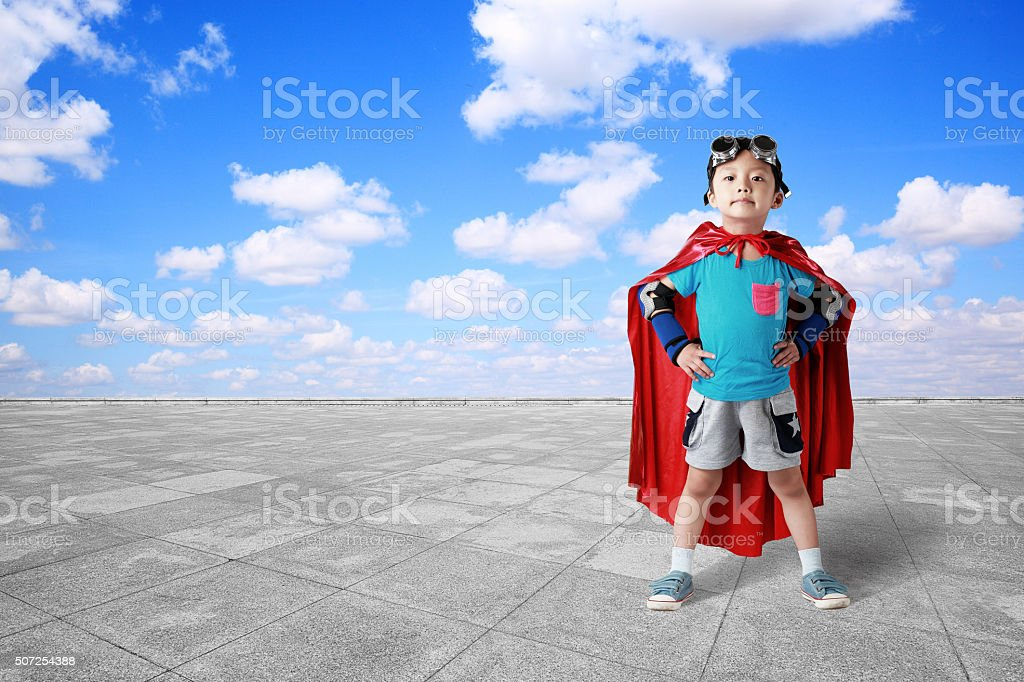 super hero stock photo