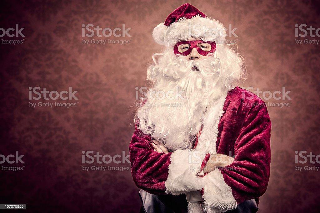 Super Hero Santa royalty-free stock photo