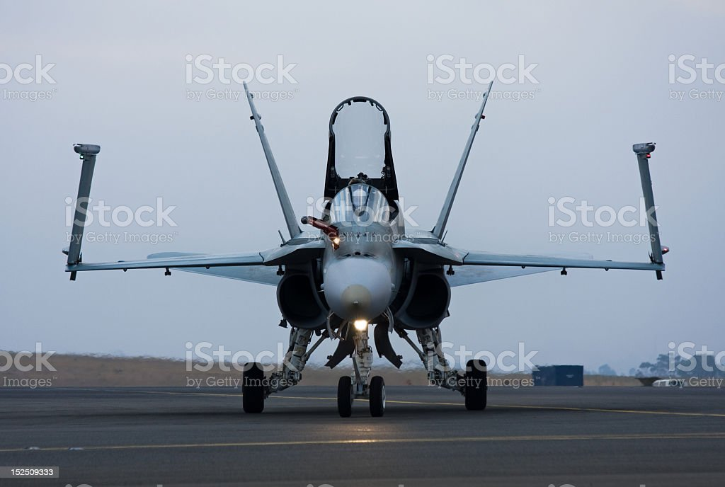 F/A-18 Super Hornet Frontal stock photo