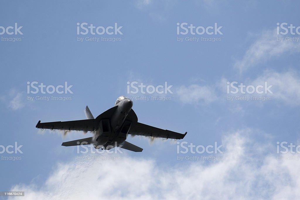 Super Hornet High Speed Pass royalty-free stock photo