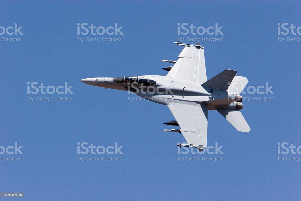 F-18 Super Hornet in the sky stock photo