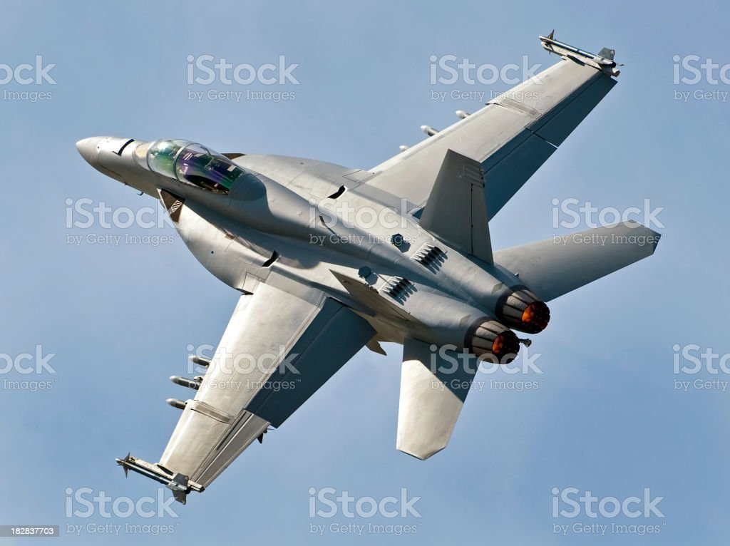 F18 Super Hornet royalty-free stock photo