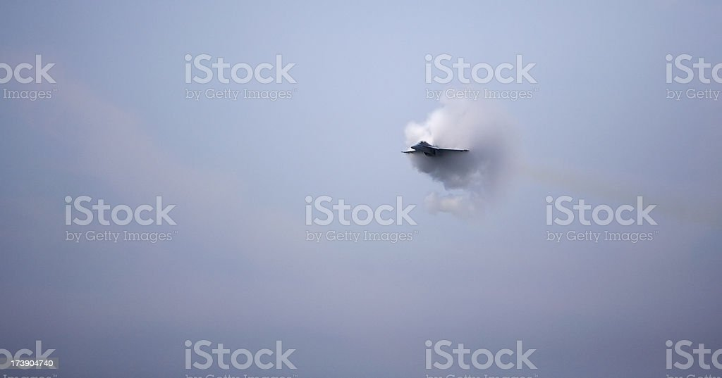 F/A 18 Super Hornet Sonic Boom royalty-free stock photo