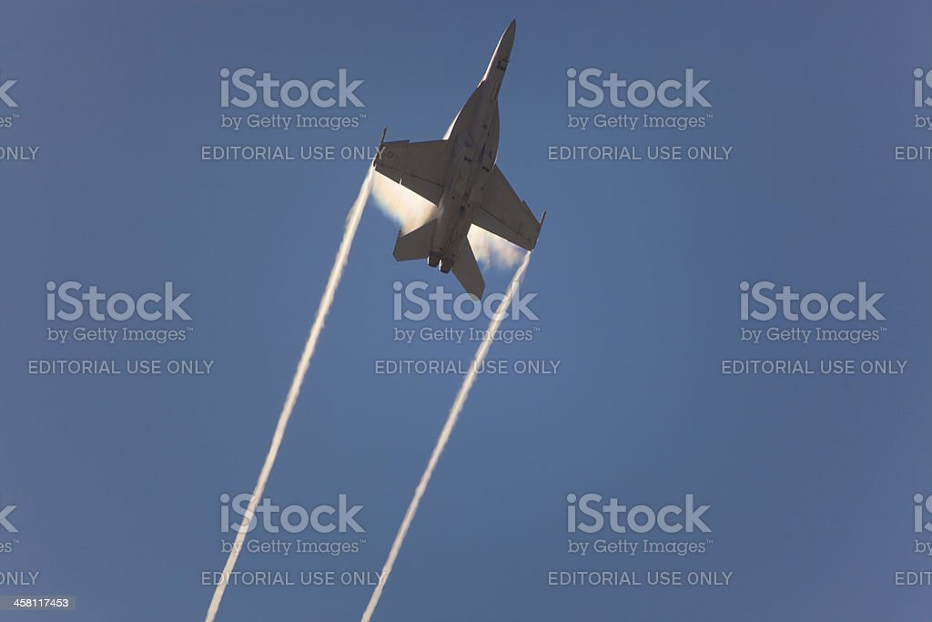 F-18 Super Hornet speed pass royalty-free stock photo