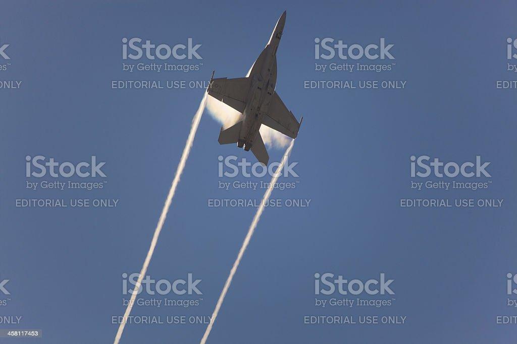 F-18 Super Hornet speed pass stock photo