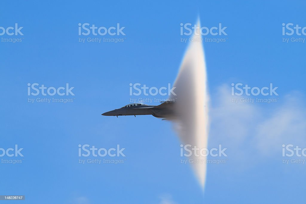 F-18 Super Hornet Vapor Cone stock photo