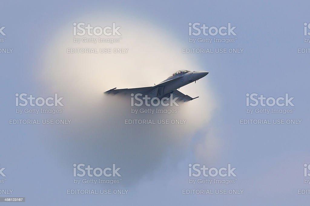 F/A-18 Super Hornet Vapor Cone stock photo