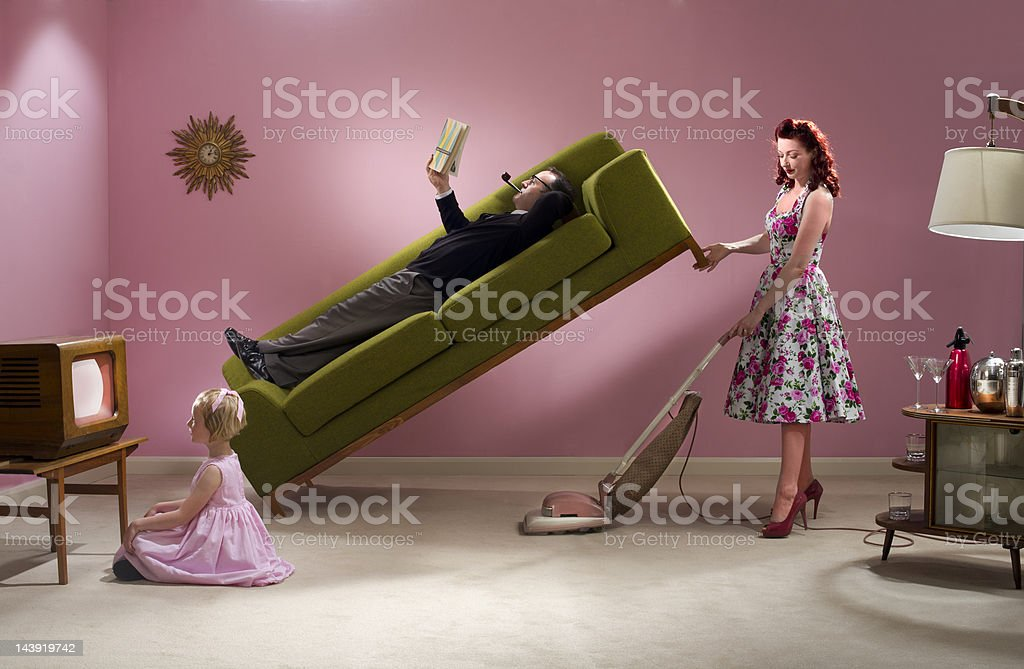 super housewife stock photo