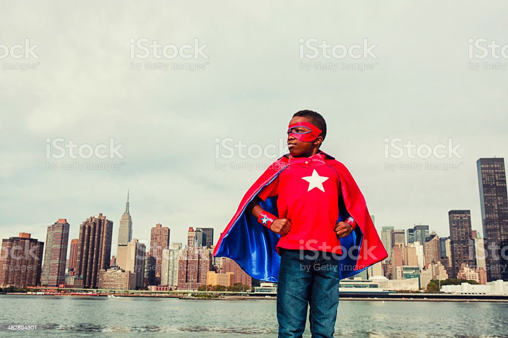 Super Kid of New York City stock photo