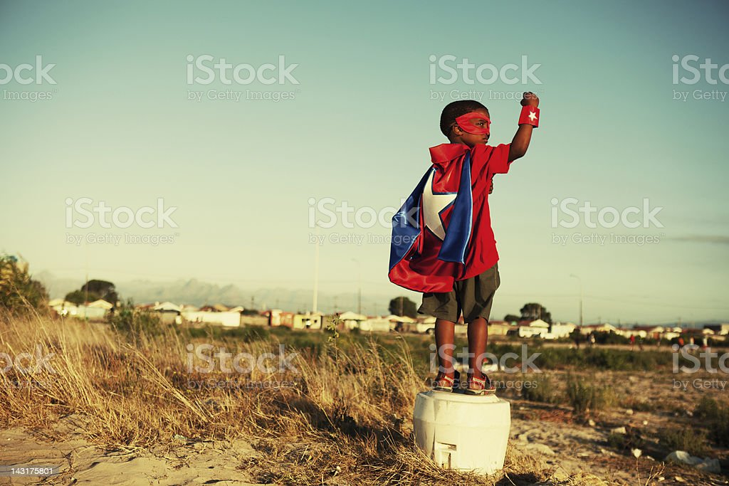 Super Kid stock photo