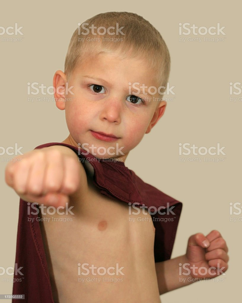 super kid punch royalty-free stock photo