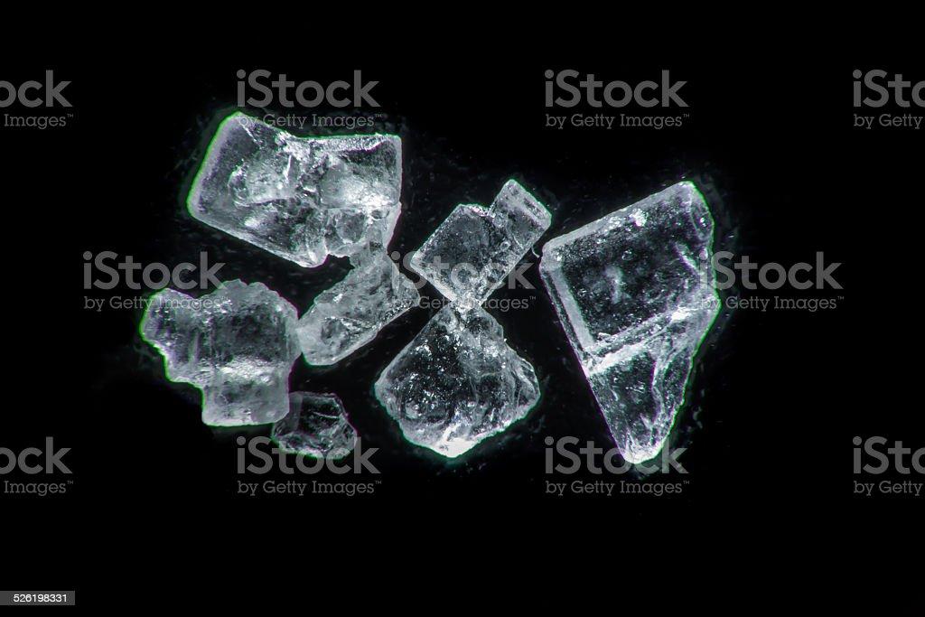 Super macro of a sugar crystals stock photo