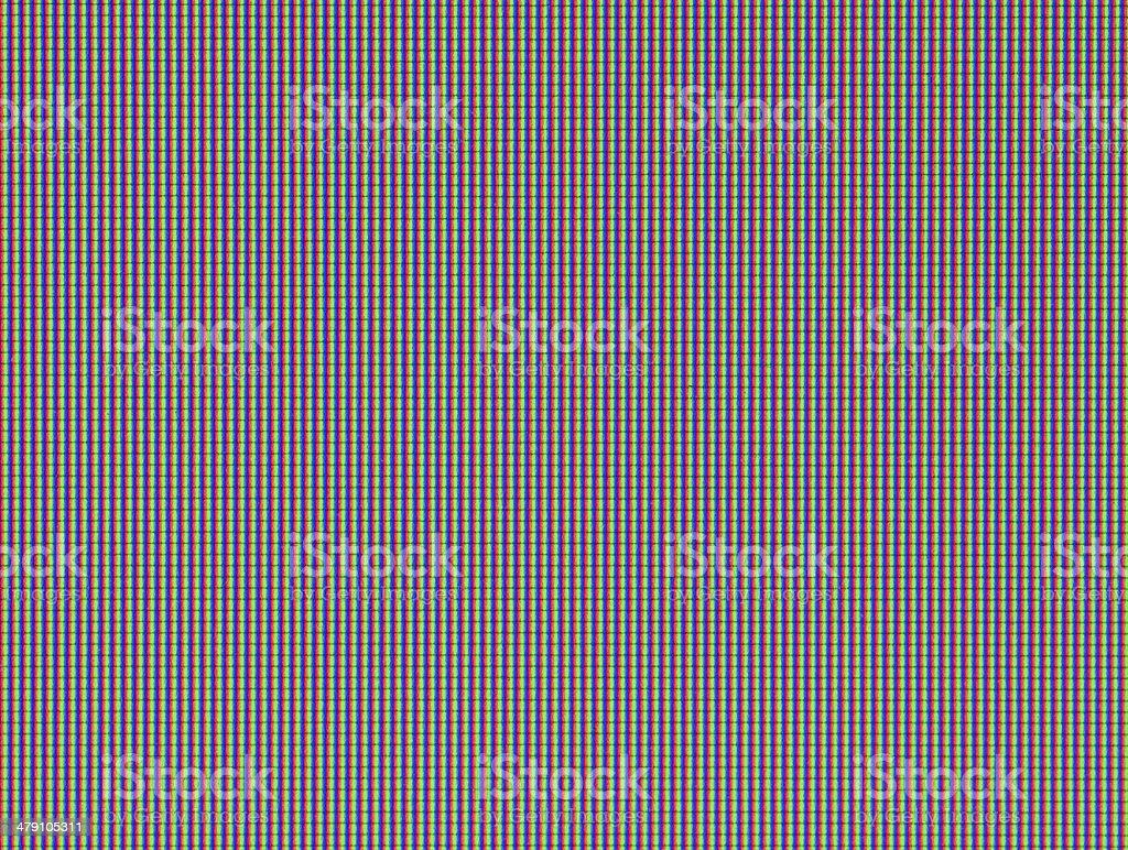 LCD. Super macro. stock photo
