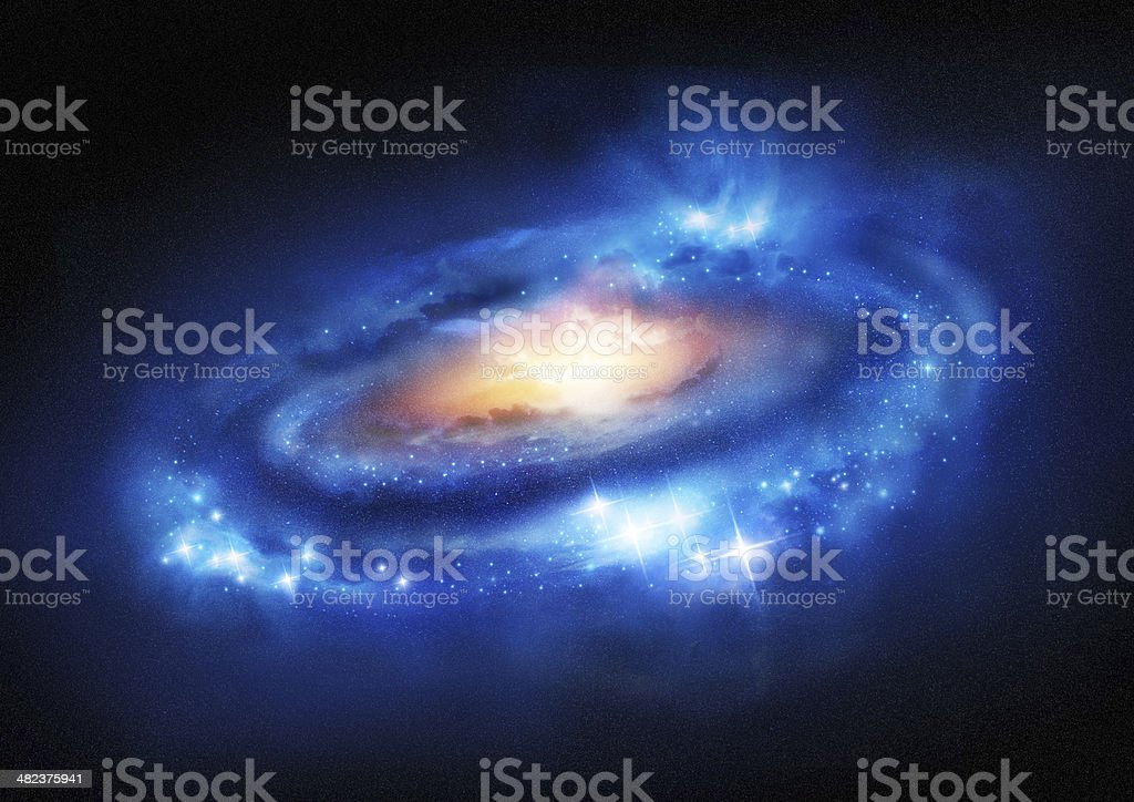 Super Massive Galaxy stock photo