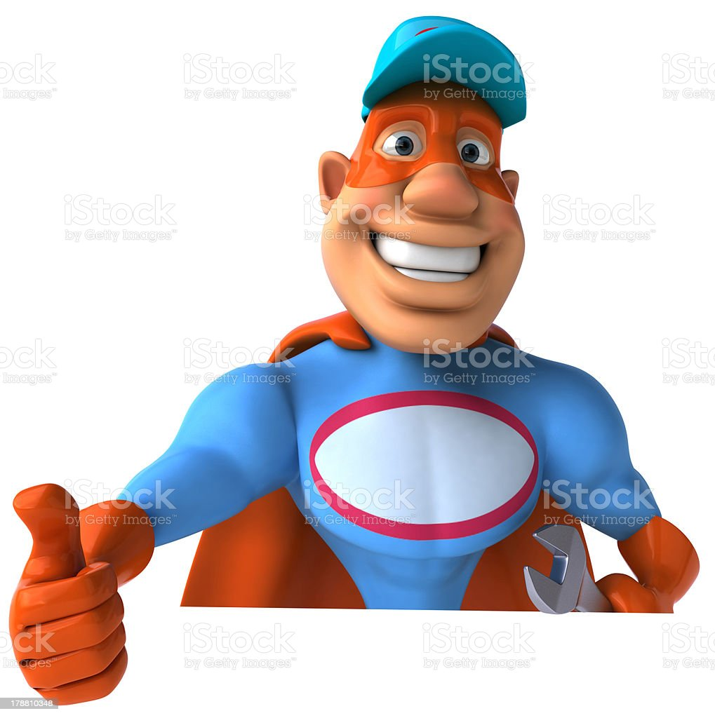 Super mechanic royalty-free stock photo