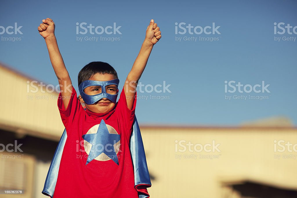 Super Mexican Boy royalty-free stock photo