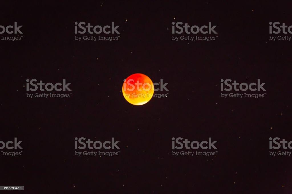 Super Moon Eclipse stock photo