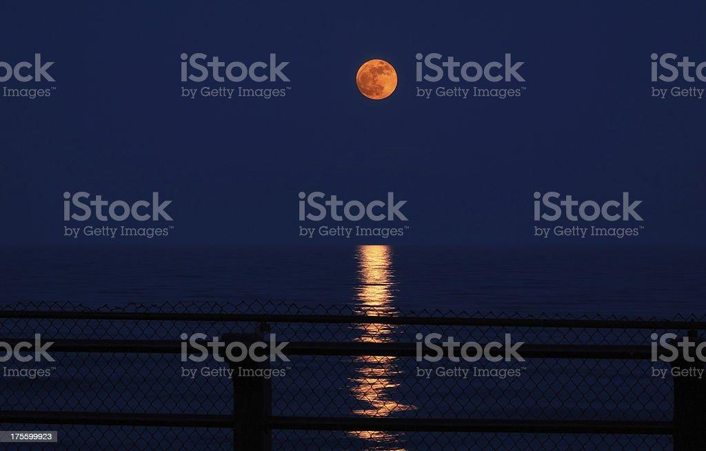 Super Moon Rising stock photo
