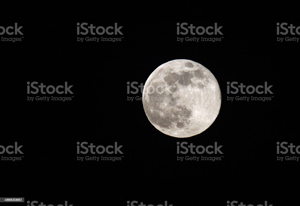 Super moon visible in Bahrain on 23 June 2013 stock photo